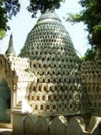 Asisbiz Amarapura Mandalay Buddha hive stupa Nov 2004 01