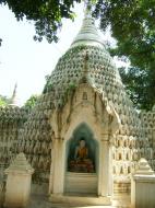 Asisbiz Amarapura Mandalay Buddha hive stupa Nov 2004 02
