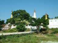 Asisbiz Amarapura Mandalay Thaungthaman lake panoramic views Nov 2004 02