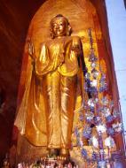 Asisbiz Ananda Pagoda standing Buddhas Pagan Dec 2000 08