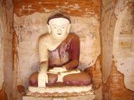 Asisbiz Myanmar Pagan main Buddha statues Nov 2004 01