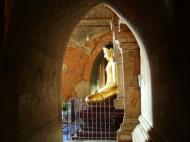Asisbiz Myanmar Pagan main Buddha statues Nov 2004 08