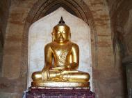 Asisbiz Myanmar Pagan main Buddha statues Nov 2004 14
