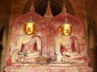 Asisbiz Myanmar Pagan main Buddha statues Nov 2004 19