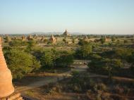 Asisbiz Myanmar Bagan sunset panoramic views Dec 2000 03