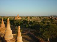 Asisbiz Myanmar Bagan sunset panoramic views Dec 2000 05