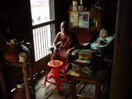 Asisbiz Bagaya Kyaung Monastery Head Monk Jan 2001 01