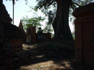 Asisbiz Bagaya Kyaung Monastery Pagoda Ruins Inwa Jan 2001 02