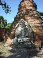 Asisbiz Bagaya Kyaung Monastery Pagoda Ruins Inwa Jan 2001 03