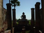 Bagaya Kyaung Monastery Pagoda Ruins Inwa Jan 2001 06