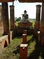 Asisbiz Bagaya Kyaung Monastery Pagoda Ruins Inwa Jan 2001 07