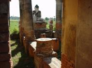 Bagaya Kyaung Monastery Pagoda Ruins Inwa Jan 2001 08