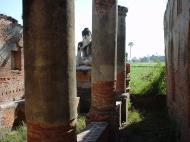 Bagaya Kyaung Monastery Pagoda Ruins Inwa Jan 2001 11