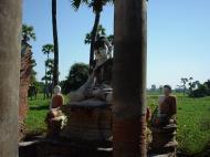 Asisbiz Bagaya Kyaung Monastery Pagoda Ruins Inwa Jan 2001 12