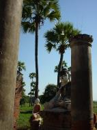 Asisbiz Bagaya Kyaung Monastery Pagoda Ruins Inwa Jan 2001 13