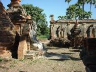 Bagaya Kyaung Monastery Pagoda Ruins Inwa Jan 2001 15