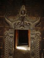 Bagaya Kyaung Monastery or Teak Monastery Jan 2001 12