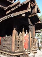Bagaya Kyaung Monastery or Teak Monastery Jan 2001 25