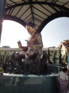 Asisbiz Yangon A Thi Tha Di Bronze Statue of Buddha Dec 2009 01