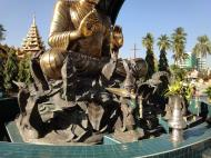 Asisbiz Yangon A Thi Tha Di Bronze Statue of Buddha Dec 2009 05