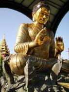 Asisbiz Yangon A Thi Tha Di Bronze Statue of Buddha Dec 2009 06