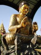 Asisbiz Yangon A Thi Tha Di Bronze Statue of Buddha Dec 2009 07