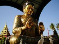 Asisbiz Yangon A Thi Tha Di Bronze Statue of Buddha Dec 2009 08