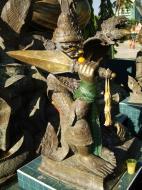 Asisbiz Yangon A Thi Tha Di Bronze Statue of Buddha Dec 2009 10