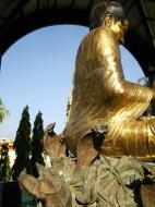 Asisbiz Yangon A Thi Tha Di Bronze Statue of Buddha Dec 2009 14