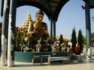 Asisbiz Yangon A Thi Tha Di Bronze Statue of Buddha Dec 2009 17