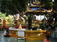 Asisbiz Yangon A Thi Tha Di Bronze Statue of Buddha garden area Dec 2009 01