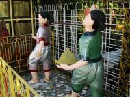 Asisbiz Yangon A Thi Tha Di Bronze Statue of Buddha garden area Dec 2009 05