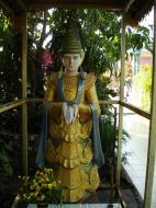 Asisbiz Yangon A Thi Tha Di Bronze Statue spiritual guardians Dec 2009 02