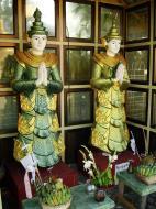 Asisbiz Yangon A Thi Tha Di Bronze Statue spiritual guardians Dec 2009 03