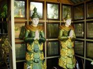 Asisbiz Yangon A Thi Tha Di Bronze Statue spiritual guardians Dec 2009 04