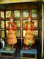 Asisbiz Yangon A Thi Tha Di Bronze Statue spiritual guardians Dec 2009 05