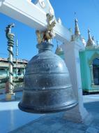 Asisbiz Yangon Botahtaung Pagoda Royal Palace Bronze Bells Jan 2010 01