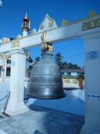 Asisbiz Yangon Botahtaung Pagoda Royal Palace Bronze Bells Jan 2010 02
