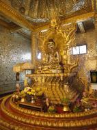 Asisbiz Yangon Botahtaung Pagoda Royal Palace Bronze Buddha Jan 2010 02