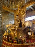 Asisbiz Yangon Botahtaung Pagoda Royal Palace Bronze Buddha Jan 2010 06
