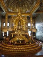 Asisbiz Yangon Botahtaung Pagoda Royal Palace Bronze Buddha Jan 2010 08
