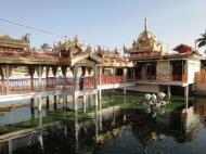 Asisbiz Yangon Botahtaung Pagoda Royal Palace main pagoda pond Jan 2010 02