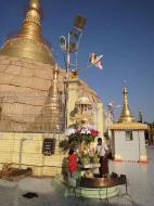 Asisbiz Yangon Botahtaung Pagoda Royal Palace main pagoda pond Jan 2010 06