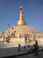Asisbiz Yangon Botahtaung Pagoda Royal Palace main pagoda pond Jan 2010 08