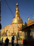 Asisbiz Yangon Botahtaung Pagoda Royal Palace main pagoda pond Jan 2010 12