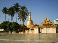 Asisbiz Yangon Botahtaung Pagoda Royal Palace main pagoda pond Jan 2010 13