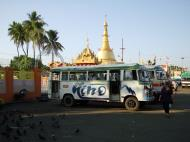 Asisbiz Yangon Botahtaung Pagoda Strand Road tourist buses Jan 2010 01