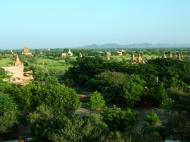 Asisbiz Pagan Dhamma ya zi ka Pagoda panoramic views Nov 2004 02