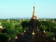 Asisbiz Pagan Dhamma ya zi ka Pagoda panoramic views Nov 2004 04