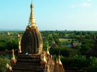 Asisbiz Pagan Dhamma ya zi ka Pagoda panoramic views Nov 2004 05